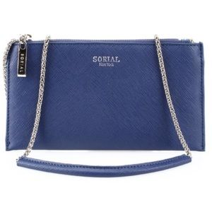 Sorial New York Saffiano Wallet on a Chain *NEW